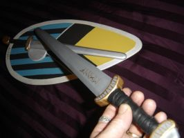 Viking swords and Kite shield. by Edwulff