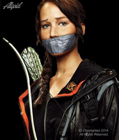 Katniss Everdeen Tape gagged #1 (The Hunger Games) by Algoid