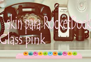 glass pink skin para RocketDock by tutorialslucy