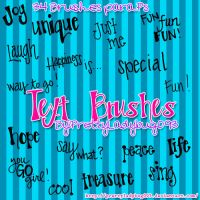 Text Brushes by PrettyLadybug093