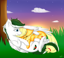 :COMMISSION: Loyal Wing and Applejack by ShyShyOctavia