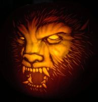 Wolfman Pumpkin by nudge1