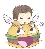 Supernatural - Castiel Burger by Mearii-chi