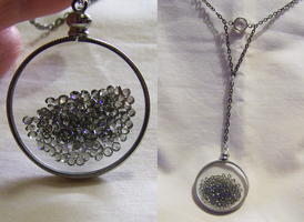 Floating Crystals Swarovski Glass Memory Locket by mymysticgems