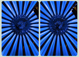 Roof of Sony Center 3D :: Berlin :: HDR Cross-Eye by zour