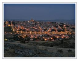 Dusk over Avila by Xessex