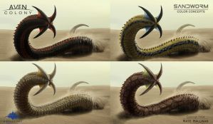 Sandworm Alien Colors by NateHallinanArt