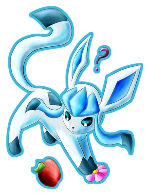 Commission - Glaceon Frolicking About by Popokino