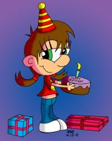 Zoe The Birthday Girl by JimmyCartoonist