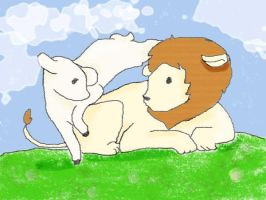the lion and the lamb by vanipy05