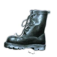 soldier's foot by tonykartun