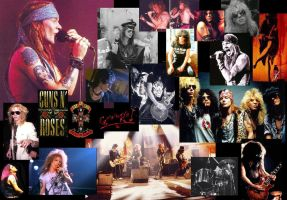 guns n' roses collage by flyingspacebrain