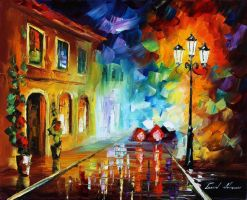 Wall of rain by Leonid Afremov by Leonidafremov