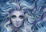 Aquamarine ACEO by Kuoma