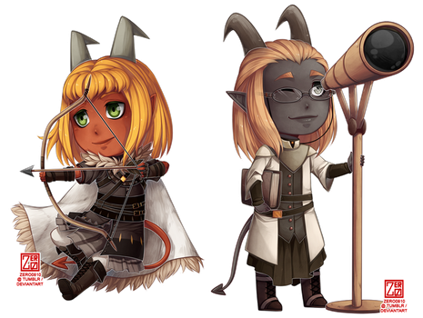 C - Levi and Clancy chibi by zero0810