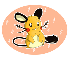 Pokemon Dedenne by Anais-thunder-pen