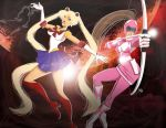 Sailor Moon and Pink Ranger by andre4boys