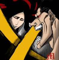 Unohana Challenges Zaraki by M by MarioTheArtistM
