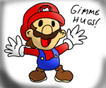 Paper Mario wants hugs by Aso-Designer