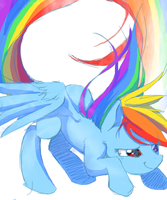 MURO: rainbow dash by Rosurin