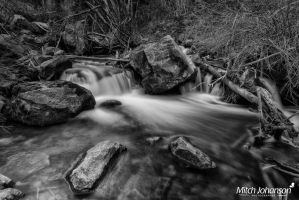 No Stopping the River BW by mjohanson