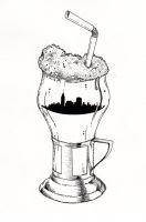 NYC Rootbeer Float by FrozenPinky