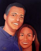 Portrait of my wife and me by yarivt