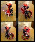 Red and Black Dragon Fairy by xlightangelwolfx