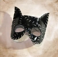 Catwoman Leather Mask by Dr-K