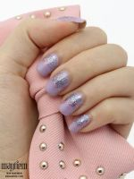Purple Pastel Glitterati Nails by MissMMayhem