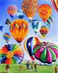 Departure - Hot Air Balloons by veracauwenberghs