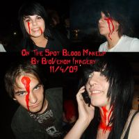Impro Makeup Blood by BioVenomImagery