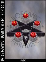 Pentagram Candle 002 by poserfan-stock