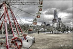 City Spokes. HDR by DirtyLittleDevil