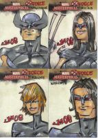 Marvel Masterpieces 2 X-Force by jasinmartin