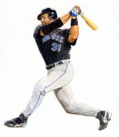 Mets Mike Piazza by Paluso4art