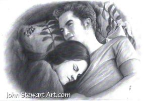 Twilight edward and bella charcoal for sale by johnstewartart
