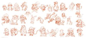 animal character design_sketch by yen-wen-hsieh