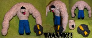 Crochet L4D Tank by esther-rose-mouse
