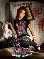 Pink Metal Tee WINTER 08 by BleedingStarClothing