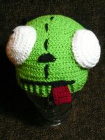 Crochet Gir Dog Hat - Front by RacHelwig