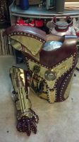 Steampunk Torso Armor with Gatling Gauntlet by NickHawke