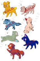Puppy Adoptables for points:Open by momo-pie