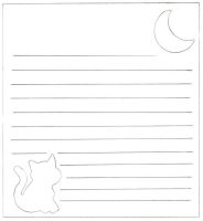 Kitty and moon memo paper by midorico