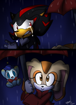 Out in the rain -story- by Meggie-Meg