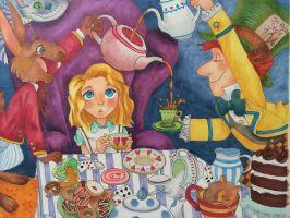 Alice in Wonderland w/ Copics by rtoynbee