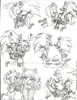 Doodles + Sonic and Amy + by ClassicMariposAzul
