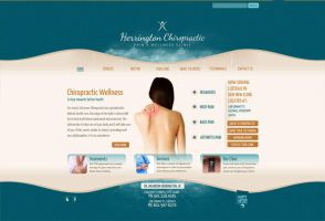 Herrington Chiropractic Website by HappyCatfishWeb