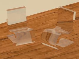 3ds Max- plastic chairs by Gikairan
