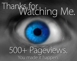 Thanks for watching - 500+ by lost--in--thought